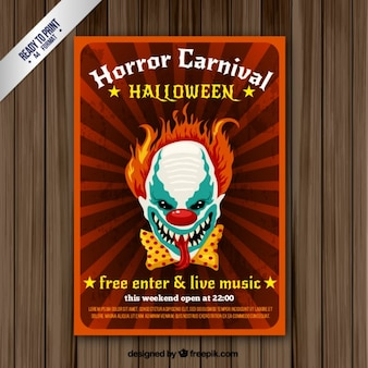 Folleto del carnaval del horror