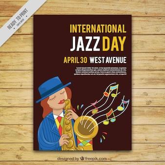 Folleto del día internacional de jazz