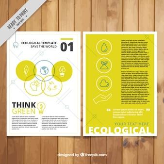 Folleto ecológico en color amarillo