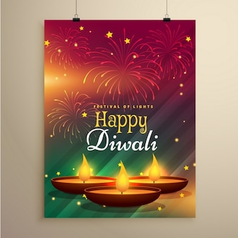 Folleto feliz diwali