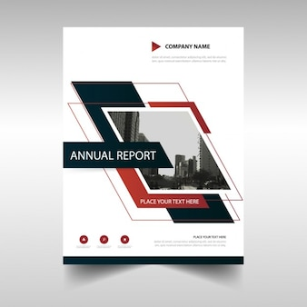 Folleto geométrico, reporte anual