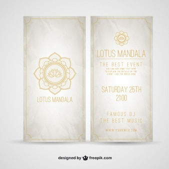 Folleto mandala de Lotus