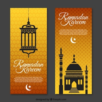 Folleto ornamental de ramadan
