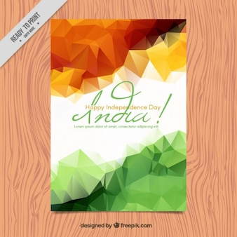 Folleto poligonal del día de independencia de india