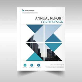 Folleto poligonal, reporte anual
