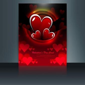folleto rojo de San Valentín