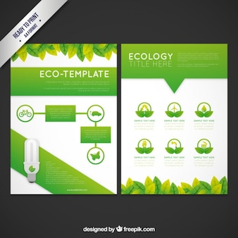 Folleto sencillo ecológico