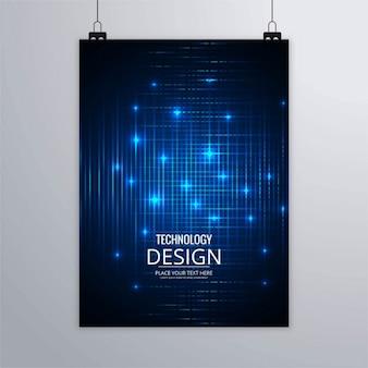 Folleto tecnológico con luces azules