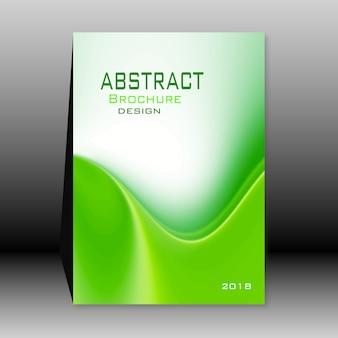 Folleto verde abstracto