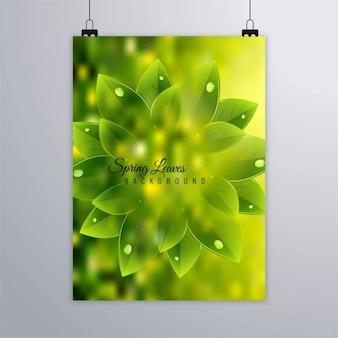 Folleto verde con plantas