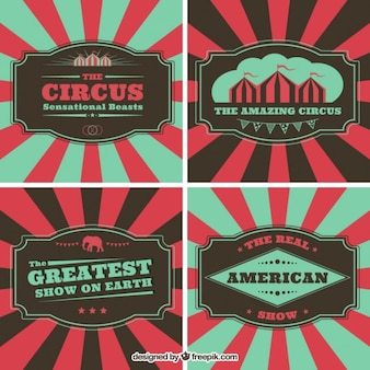 Folletos de circo en estilo vintage