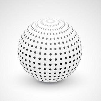Fondo 3d con una esfera