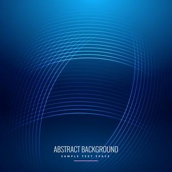Fondo abstracto azul con ondas