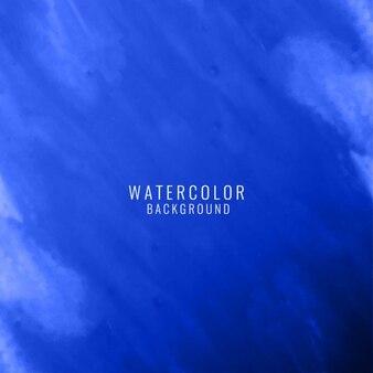 Fondo abstracto azul con textura de acuarela