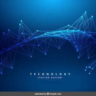 Fondo abstracto azul de tecnología