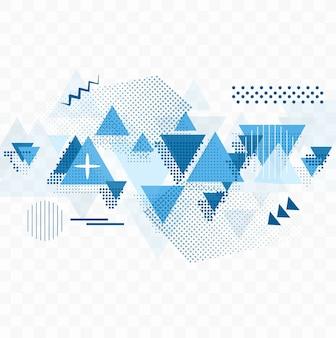 Fondo abstracto azul geométrico