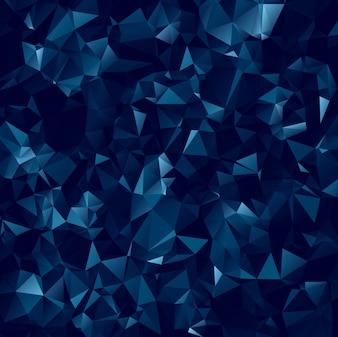 Fondo abstracto azul oscuro poligonal