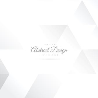 Fondo abstracto blanco con formas geométricas