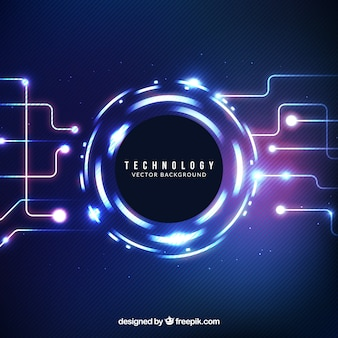 Fondo abstracto brillante tecnológico