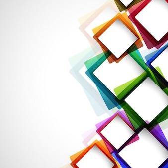 Fondo abstracto colorido con cuadrados