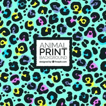 Fondo abstracto colorido con manchas de animales