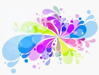 Fondo abstracto colorido creativo