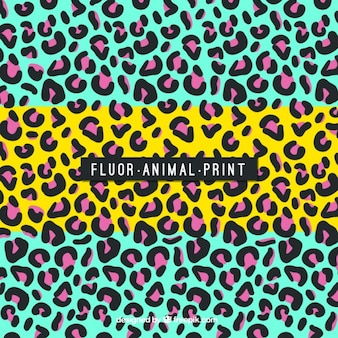 Fondo abstracto colorido de leopardo