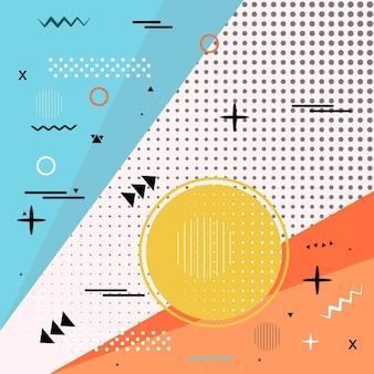 Fondo abstracto colorido memphis