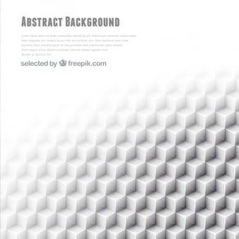 Fondo abstracto con cubos blancos