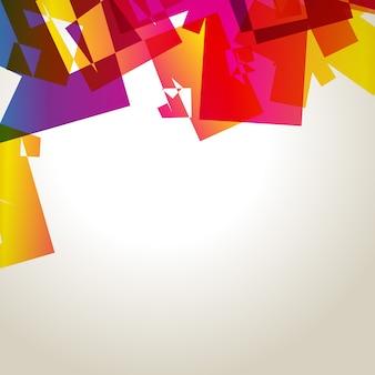 Fondo abstracto con cubos coloridos
