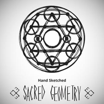 Fondo abstracto con el dibujo de la geometría sagrada