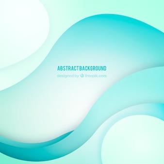 Fondo abstracto con formas onduladas azules