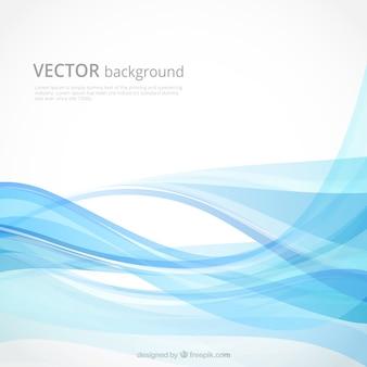 Fondo abstracto con formas onduladas en tonos azules