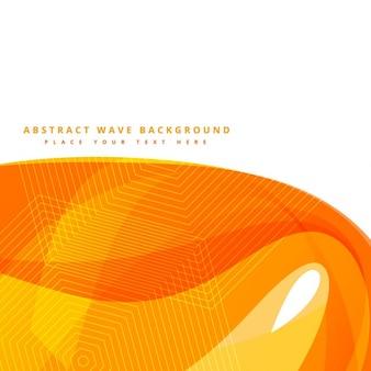 Fondo abstracto con la onda amarilla forma vector