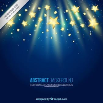 Fondo abstracto con las estrellas