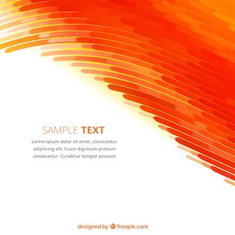 Fondo abstracto con las ondas de color naranja