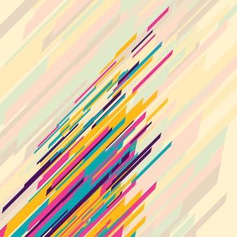 Fondo abstracto con lineas coloridas