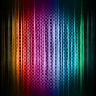Fondo abstracto con líneas de neón