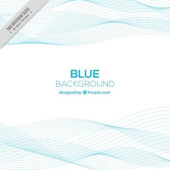Fondo abstracto con líneas onduladas azules