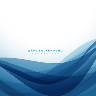 Fondo abstracto con ondas azul oscuro