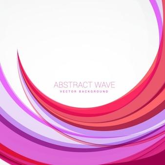 Fondo abstracto con ondas rosas