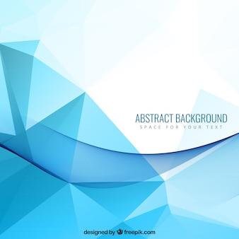 Fondo abstracto con polígonos azules