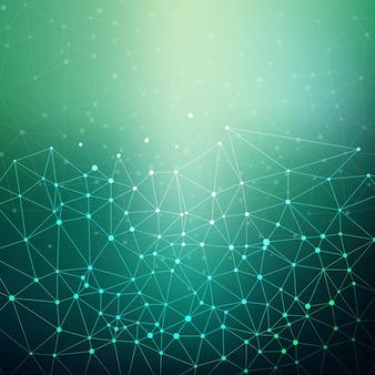 Fondo abstracto con puntos de conexión y líneas