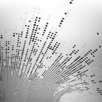Fondo abstracto con puntos, estilo tecnológico