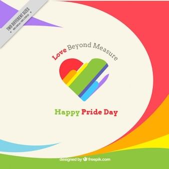 Fondo abstracto con un corazón del día del orgullo