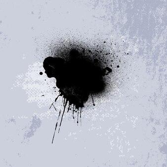 Fondo abstracto con una mancha de tinta negra