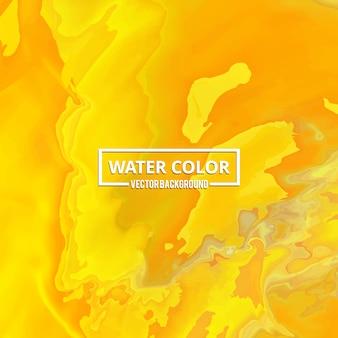 Fondo abstracto de acuarela amarilla