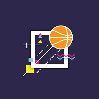 Fondo abstracto de baloncesto