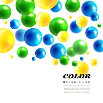 Fondo abstracto de bolas de colores