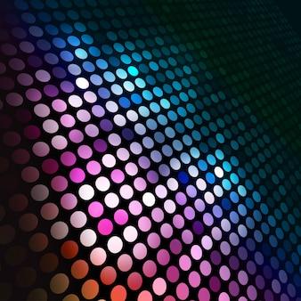 Fondo abstracto de círculos coloridos